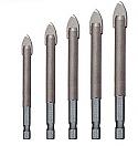 5 Piece Tile Drill Bit Set 4/5/6/8/10mm
