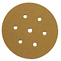 150mm Self Adhesive Paper Tabbed Sanding Disc P120 - Pack of 20