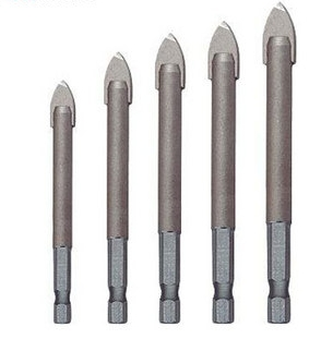 A Selection Of Tile Drill Bits For Rotary Drilling In Gl And Standard Ceramic Materials Pointed Chisel Edge Which Can Be Resharpened At Any Time
