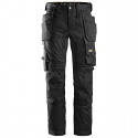 Snickers Stretch Trousers With Holster Pockets Black each