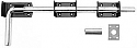 450mm (18 in) Garage Door Bolt  Black set each