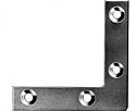 75mm No 324 Flat Corner plates BZP per Box of 100