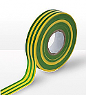 19mm x 20m Electricians tape (Green and Yellow - Earth) per Box of 20
