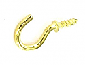 Securit Cup 32mm hooks Electro Brass pack of 5