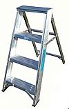 3 tread Swing Back Aluminium Stepladders each