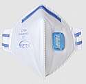 FFP2 Valved Dust mask Mist Fold Flat Respirator White each