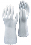 White 100% PVC unsupported Anti Baterial Glove Size 8 Medium each