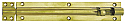6in x 1in Straight Barrel Bolt Polished Brass per Box of 10