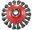 Dronco 115mm x 12mm x 0.50 CSW Bore 22.2 Steel Twisted Knot Wheels per Box of 5