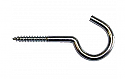 75mm 3in x 1/4in dia. No.413 Ceiling Hooks to Screw Zinc Plated per Box of 50
