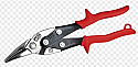 WISS Left and Straight Cut Offset Snips Red Grip each