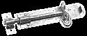 6 inch Brenton Pad Bolt Galvanised per Box of 10