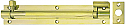 3in x 1in Brass Straight Barrel Bolt per Box of 10