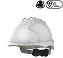 EVO3 Revolution Wheel Ratchet Vented White Safety Helmet each