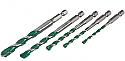 Heller QuickBit AllMat 5 piece Drill bit set dia 4, 5, 6, 8, 10mm each