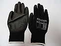 Black handling glove PU palm medium size 8 per Box of 12