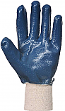 Blue nitrile gloves knitted wrist each