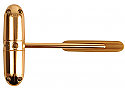 Surface Mounted Safety Door Closer Polished Brass each