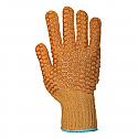 Yellow criss-cross glove per pair