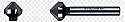 6.3mm Heller HSS De-burring Cone Drill Bit each