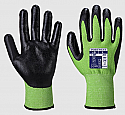 Green and Black Cut Level 5 Gloves size Large each