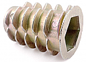 M10 x 25mm D Type Threaded Insert for Wood ZYP per Box of 250