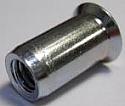 M8 x 18.5mm Full Countersunk Head Knurled Body Rivet Nut per Box of 1000