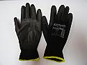 Black handling glove PU palm small size 7 per Box of 12