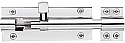 3in (75mm) Straight Barrel Bolt Polished Chrome finsh each