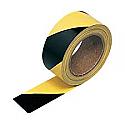 50mm x 33m Yellow & Black Adhesive Warning Tape per 5 rolls
