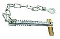 10mm x 73mm Zinc Plated Sword Pin & Chain per Box of 10